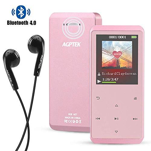 AGPTEK Bluetooth4.0 MP3プレーヤー スピーカー搭載 音楽プレーヤー HiFi音質 ノイズキャンセル...