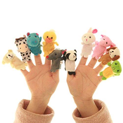 Zafina 指人形 布製 動物 子供保育  物語 想像力を育てる 知能 童話 シリーズ 10匹セット