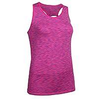 軽量で 快適な生地 Ms. Summer Short Sleeve Navelランニングクイック乾燥通気性トップスポーツヨガフィットネス服 (色 : 紫の, サイズ : L)
