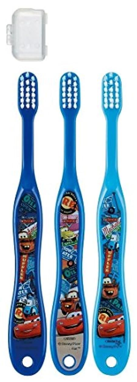 宿題をする夫婦アクティビティ歯ブラシ 園児用 3-5才 毛の硬さ普通 3本組 カーズ 15 TB5T × 3個セット