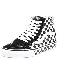 VANS バンズ RE-ISSUE CHECKERBOARD SK8HI 黒x白 ブラックxホワイト BLACK / WHITE