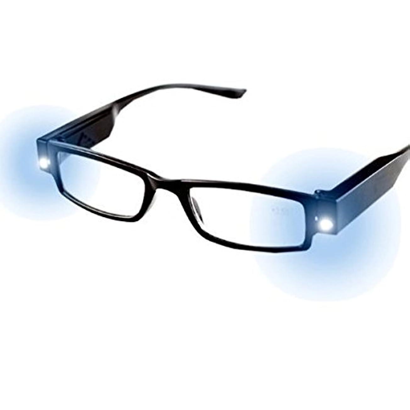 浸す寂しい簡潔なFairyjp LED搭載老眼鏡 折りたたみ式 メガネ 携帯便利 非球面レンズ ケース付き 2灯 省エネ 読書 手芸 超弾性素材採用 ファッション眼鏡 超軽量ノーズパッド 男女兼用 メンズ レディース