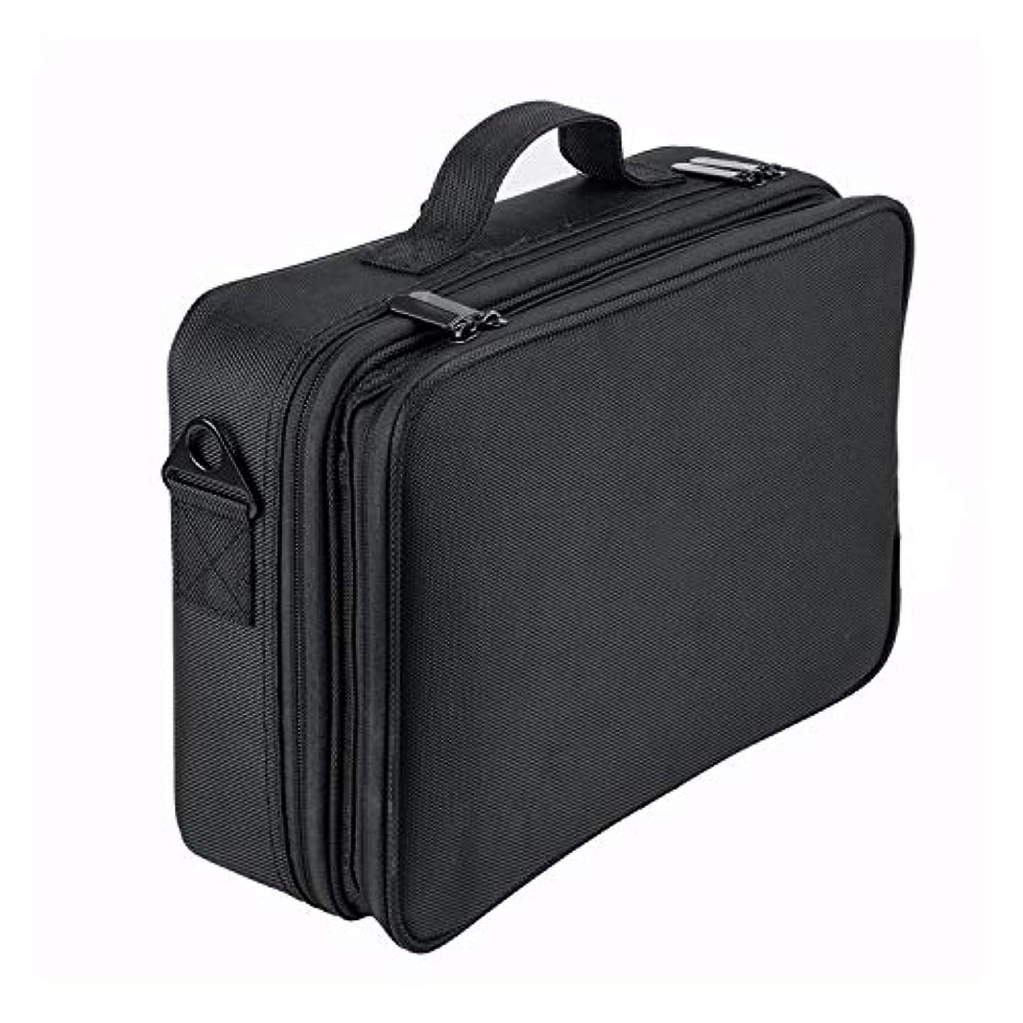 手荷物複雑なロンドンSun Ruck メイクボックス コスメボックス 大容量 仕切り板調節可能 SR-MB01L-BK Lサイズ