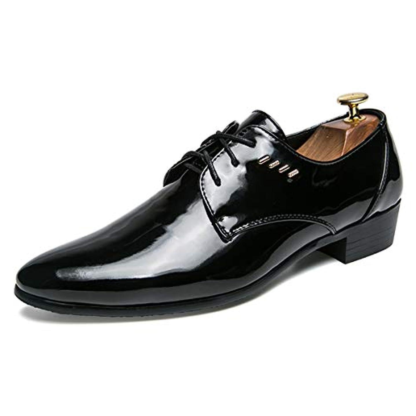 大宇宙サージ達成する[Poly] メンズシューズ レザーシューズ ドレスシューズ レースアップ ビジネスシューズ カジュアル靴 紳士靴 ハイヒール エナメル ストレートチップ G-A35123/A35133