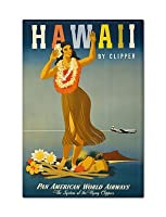 Hawaii by Clipperヴィンテージポスターアートワーク複製冷蔵庫マグネット