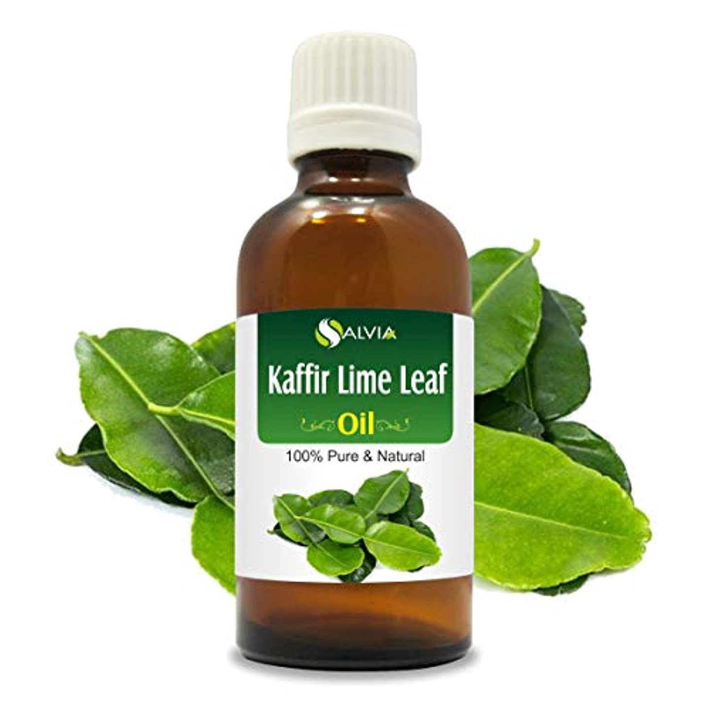 容器音楽を聴くカラスKaffir Lime Leaf oil (Citrus hystrix) 100% Natural Pure Undiluted Uncut Essential Oil 15ml