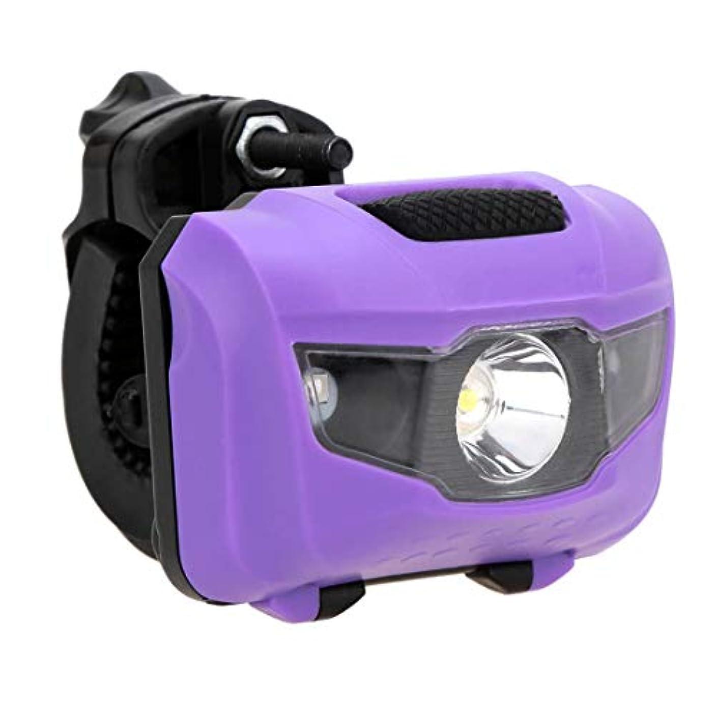 害回復するダウンWOVELOT 自転車用ヘッドライト 防水の強いLEDヘッドライト レッドライト警告灯携帯用自転車のヘッドライト ブラック