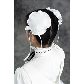 Emily メイドさんシニヨンカバー コスチューム用小物 白 レディース フリーサイズ