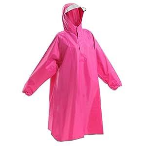 Amagoo (アマグー) レインコート ポンチョタイプ 袖つき フリーサイズ ピンク