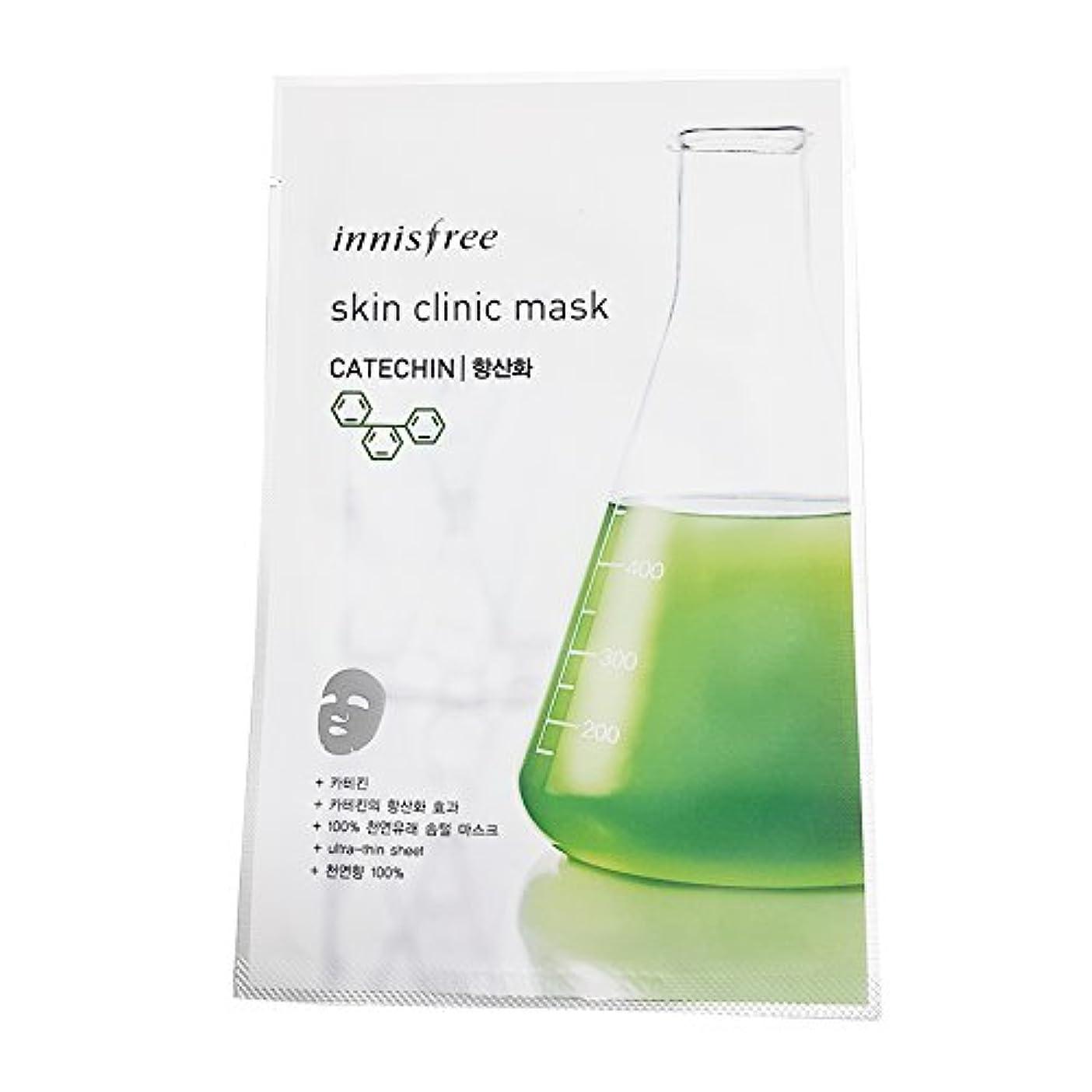 混雑倉庫常習的[イニスプリー] Innisfree スキンクリニックマスク(20ml)-カテキン(抗酸化用) Innisfree Skin Clinic Mask(20ml)-Catechin for Antioxidant Effect...