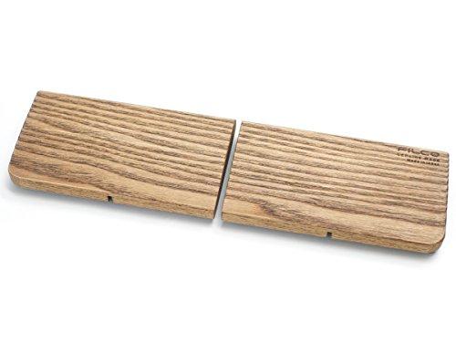 FILCO ウッドパームレスト Sサイズ 分離型(2分割) 幅(296mm) 天然堅木製 オスモカラー仕上げ 日本製 ブラウン FWPR/S