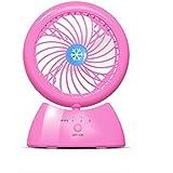 USBファンミニ17 * 12cmポータブル学生ポータブルデスクトップベッドファン (色 : ピンク)