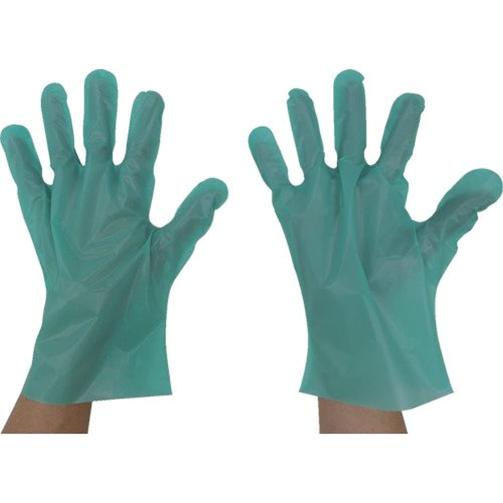 歯科医ピッチャー安心させる東京パック エンボス手袋五本絞りエコノミー化粧箱M グリーン(入数:200枚) GEK-M