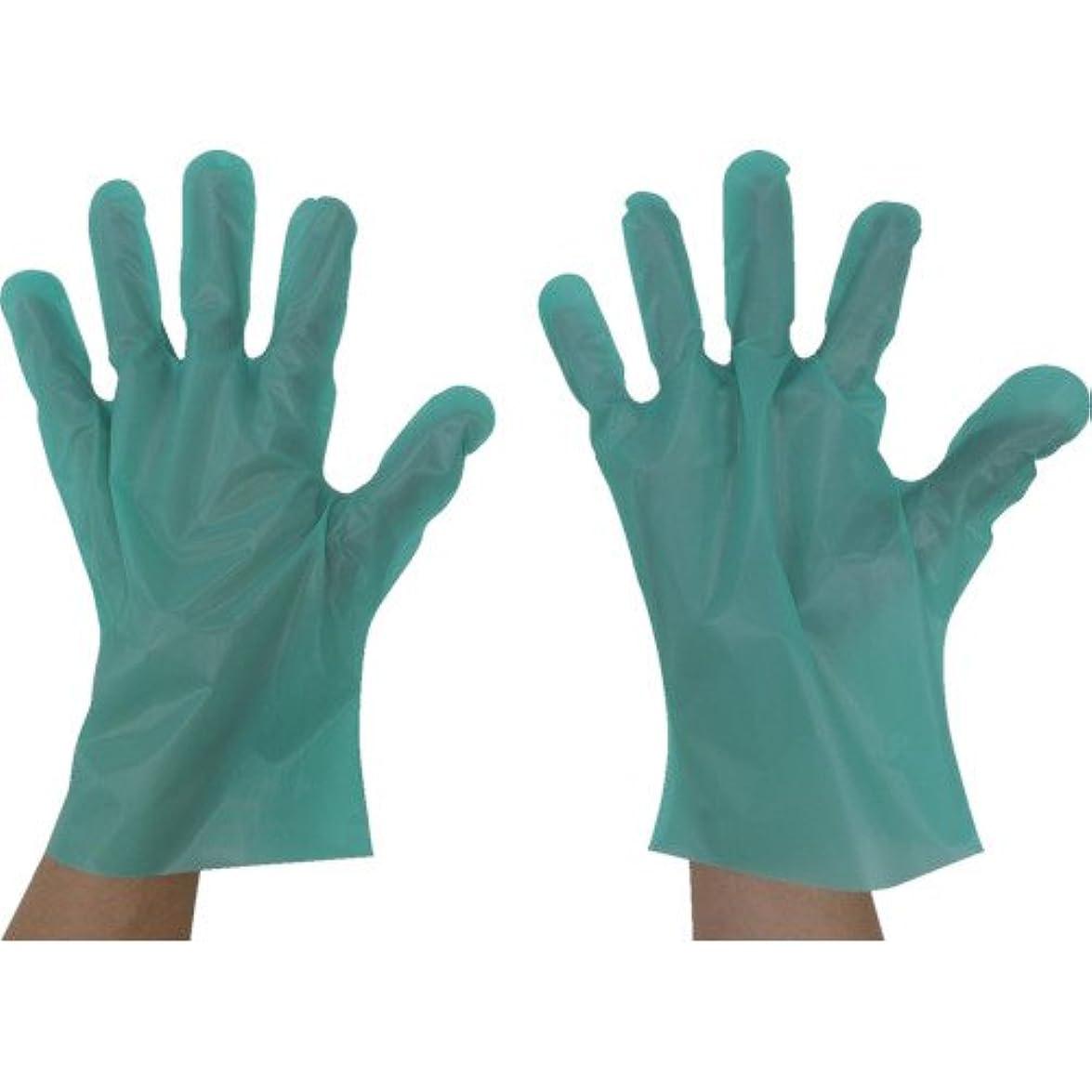 やけど後世地球東京パック エンボス手袋五本絞りエコノミー化粧箱M グリーン GEK-M