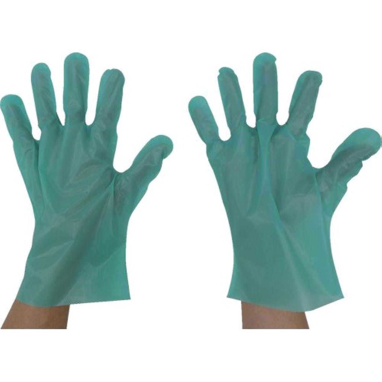 有毒な不屈カップ東京パック エンボス手袋五本絞りエコノミー化粧箱L グリーン(入数:200枚) GEK-L