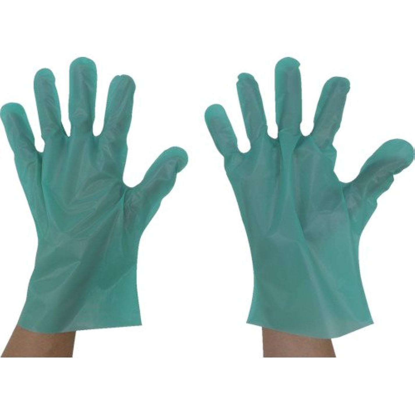 東京パック エンボス手袋五本絞りエコノミー化粧箱L グリーン GEK-L