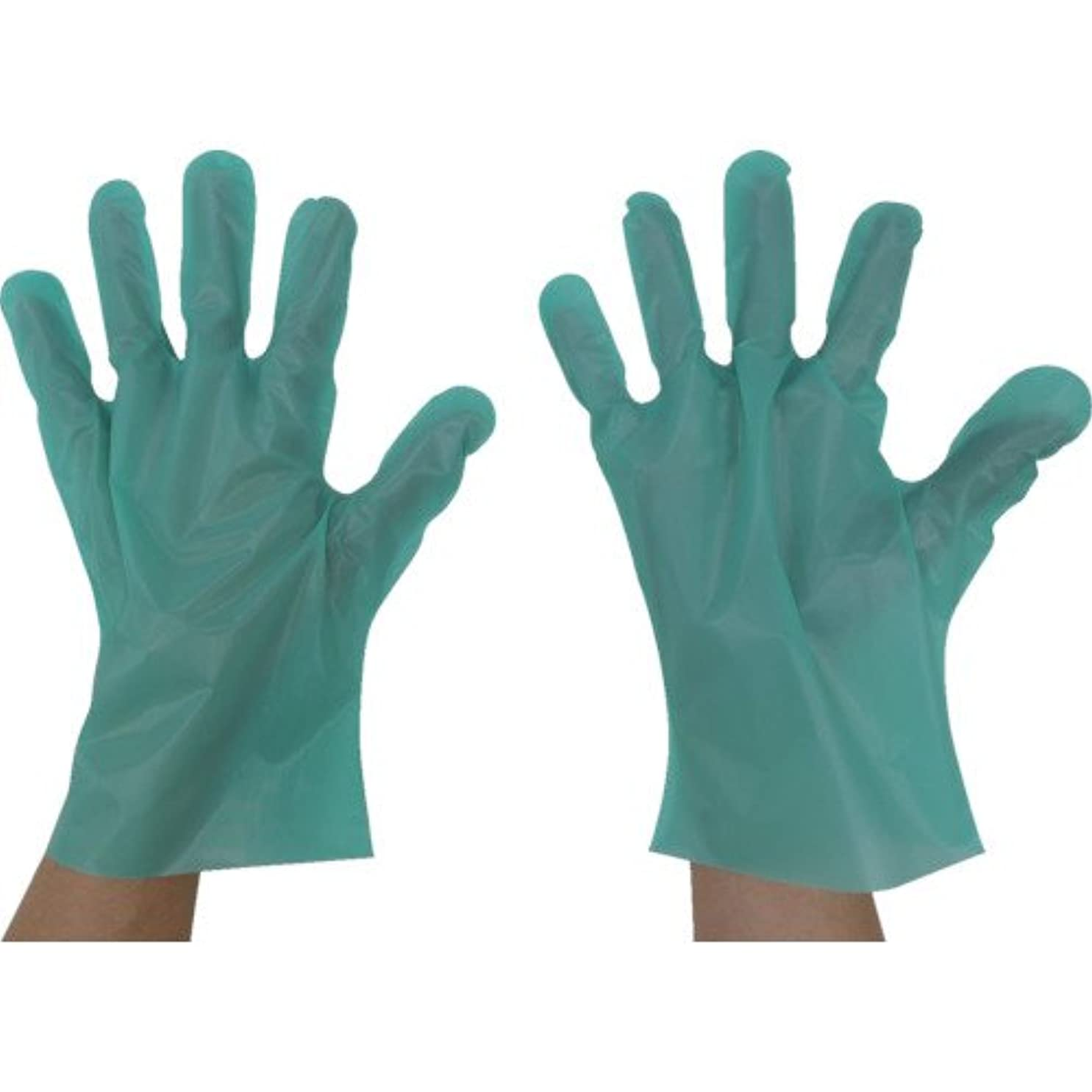 生理うなずく恐ろしいです東京パック エンボス手袋五本絞りエコノミー化粧箱S グリーン(入数:200枚) GEK-S