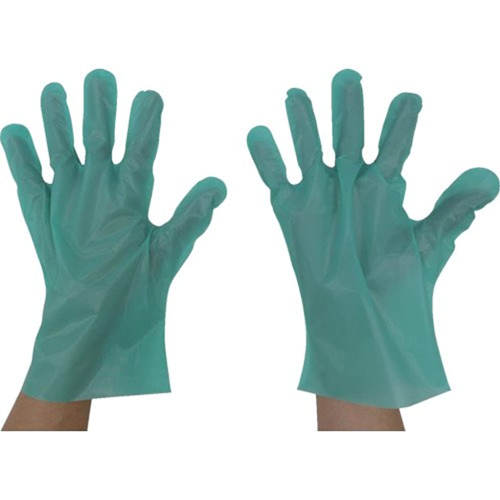 等価超えてリマーク東京パック エンボス手袋五本絞りエコノミー化粧箱L グリーン(入数:200枚) GEK-L