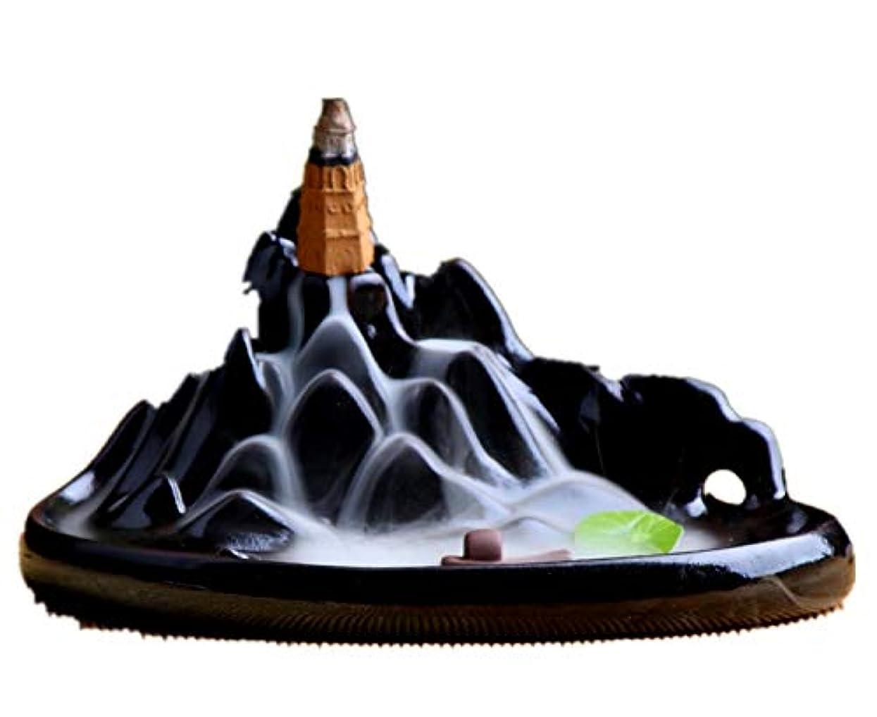 丁寧最も遠い霊XPPXPP Backflow Incense Burner, Household Ceramic Returning Cone-shaped Candlestick Burner