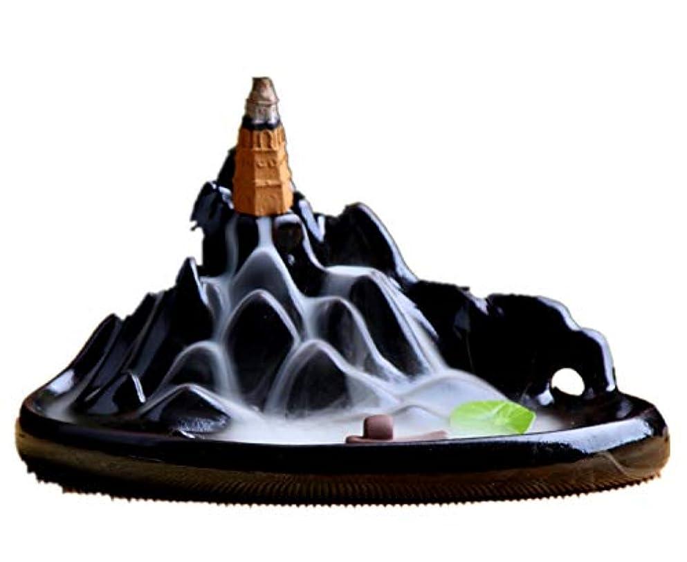 精巧な和葉っぱXPPXPP Backflow Incense Burner, Household Ceramic Returning Cone-shaped Candlestick Burner