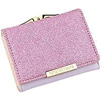 [プチハピ] 三つ折り 財布 使いやすい がま口 小銭入れ ラメ カラー レディース