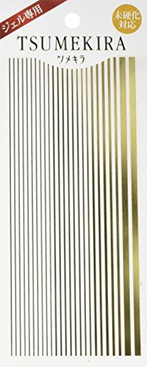 慣らす真夜中セットするツメキラ(TSUMEKIRA) ネイル用シール ライン ゴールド SG-LIN-102
