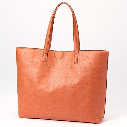ビサルノ(VISARUNO) ラクチン快適クラッチバッグ付きトートバッグ【オレンジ/1サイズ】