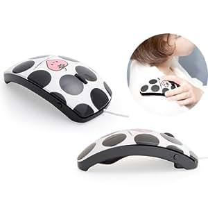 リラクゼーション用バイブレーション機能付きマウス マウスフィット mousefit Black ブラック