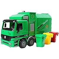 モデルTransport Cars趣味ゲームおもちゃfor Children、Garbageトラック、ライトグリーン