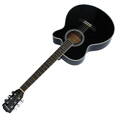 Stardust 初心者 アコギ 入門 用 アコースティック コスパ 最強 ギター ファースト GUITAR ( 40 インチ / ブラック ) SD-GT-FIRSD-40-BK