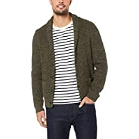 French Connection Men's Olive Shawl Neck Cardigan