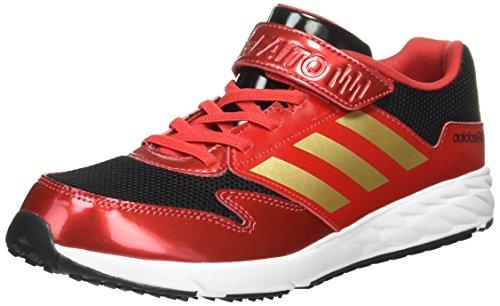 [アディダス]  運動靴 KIDS アディダスファイト EL K スカーレット/ゴールドメット/ランニングホワイト 24.0 (現行モデル)