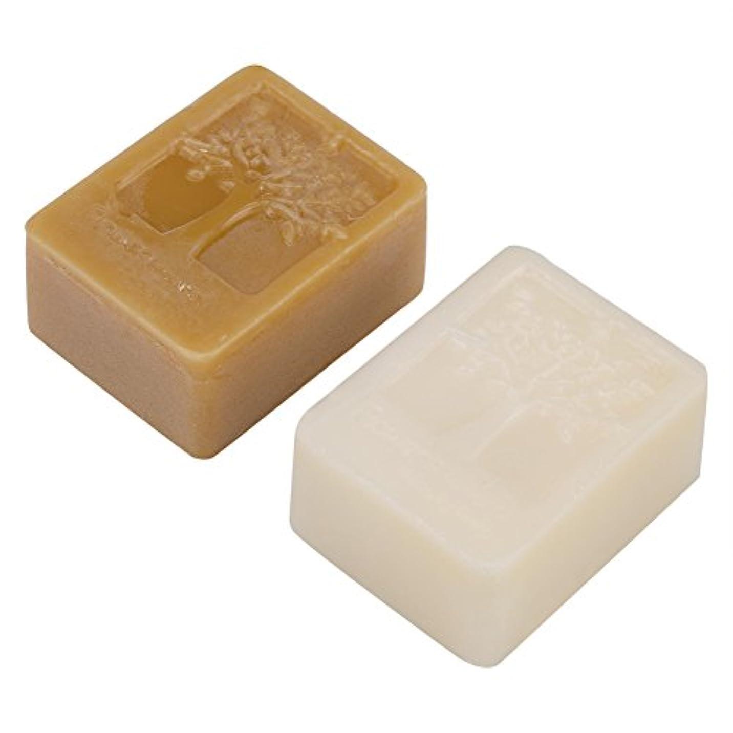 印象接地切手純粋な100g / 3.5oz白い蜜蝋ブロック+ 100g / 3.5oz黄色の蜜蝋石鹸、食品等級