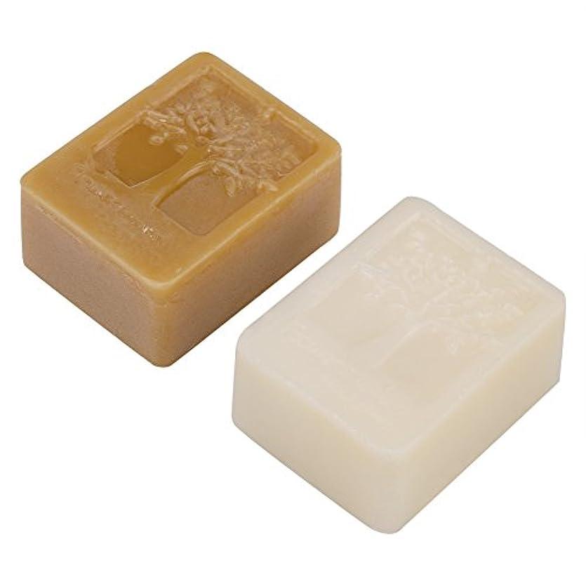 扇動幾何学動作純粋な100g / 3.5oz白い蜜蝋ブロック+ 100g / 3.5oz黄色の蜜蝋石鹸、食品等級