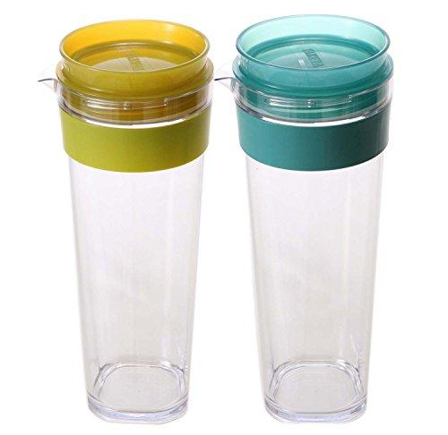 ピッチャー スリムジャグ 冷水筒 1.1L かわいい 洗いやすい ドアポケット 定番 マリンXレモン