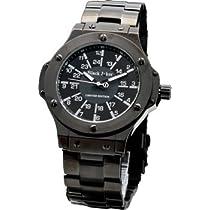 [ブラックジョーカー]腕時計 ブラックダイヤモンド オールブラック  雑誌掲載モデル メンズ 時計