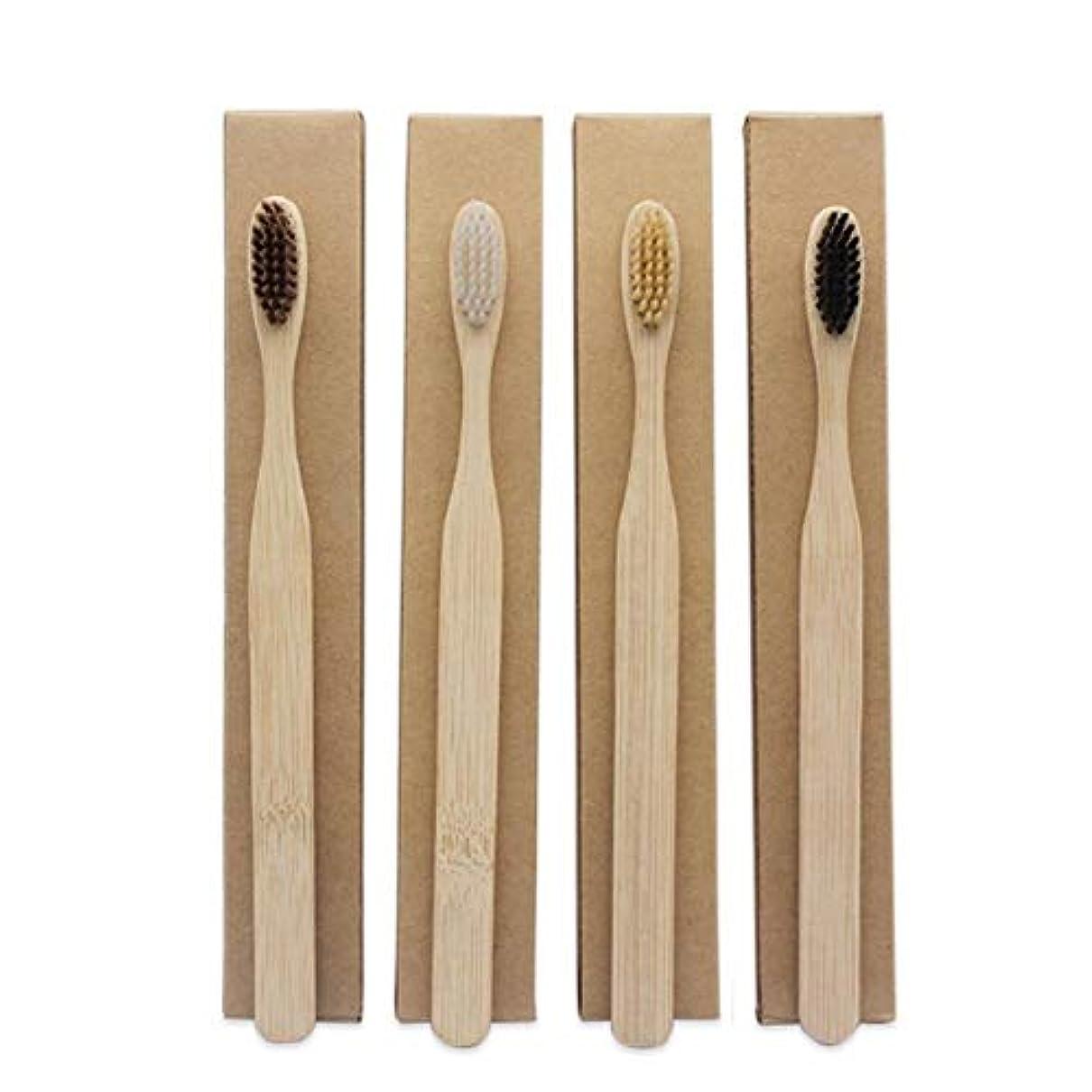 タップソース羽1st market プレミアム品質竹歯ブラシオーラルケアエコソフトパック4個