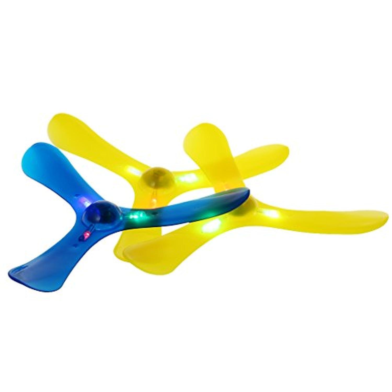 Dabixx ブーメラン,   ライト3は、ブーメラン屋外おもちゃのおもちゃのスポーツフライングトーを投げる - 色はランダムに