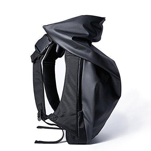 ゲンゲン リュックサック カジュアル 防水 ユニセックス デザイン ファッションリュック ブラック お出掛け