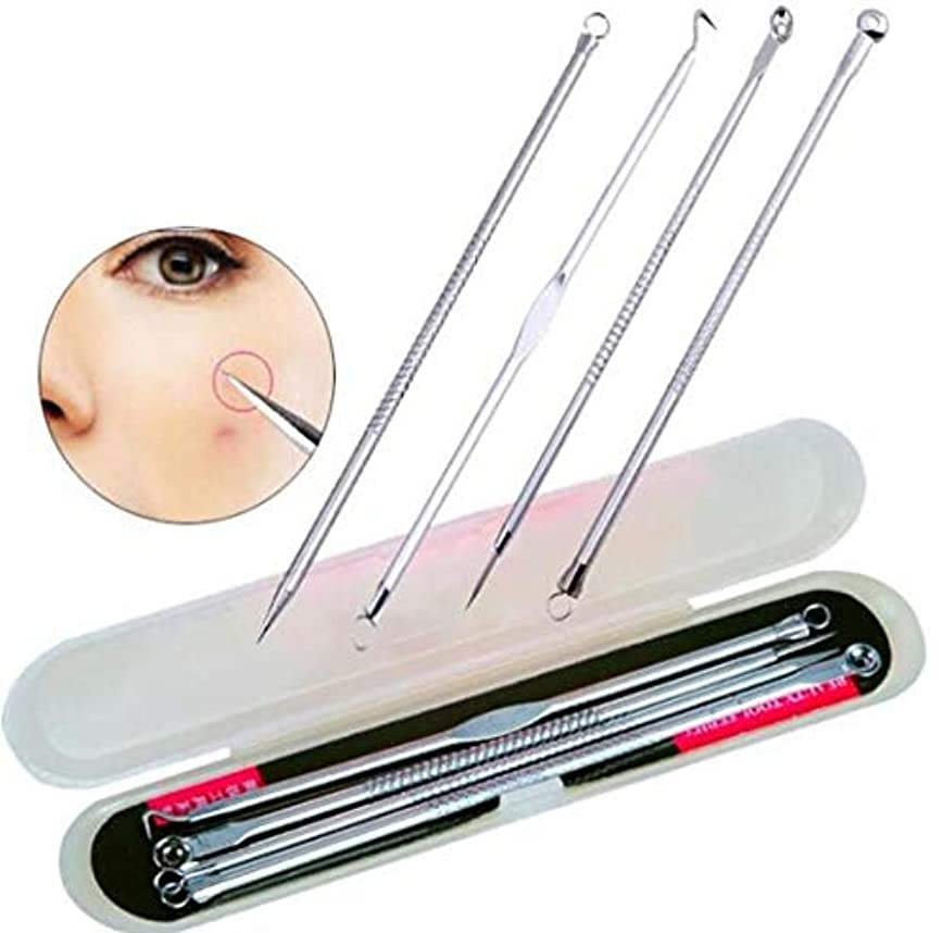 アーネストシャクルトンマーキング競合他社選手4 Pcs Acne Blackhead Removal Stainless Pimple Spot Comedone Extractor Beauty Face Clean Care Tools Facial Pore Cleanser