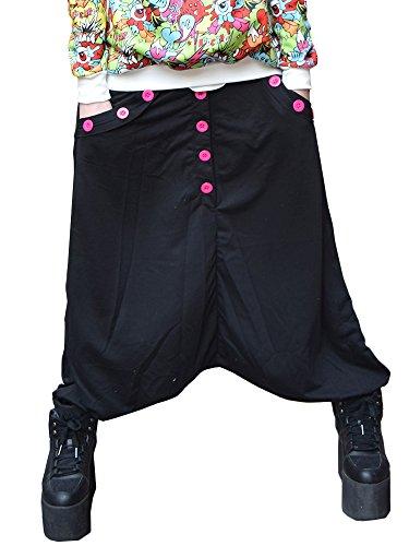 (エーシーディーシー ラグ) ACDC RAG 14ボタン サルエルパンツ パンク ロック 原宿系 ファッション かわいい 黒 ピンク