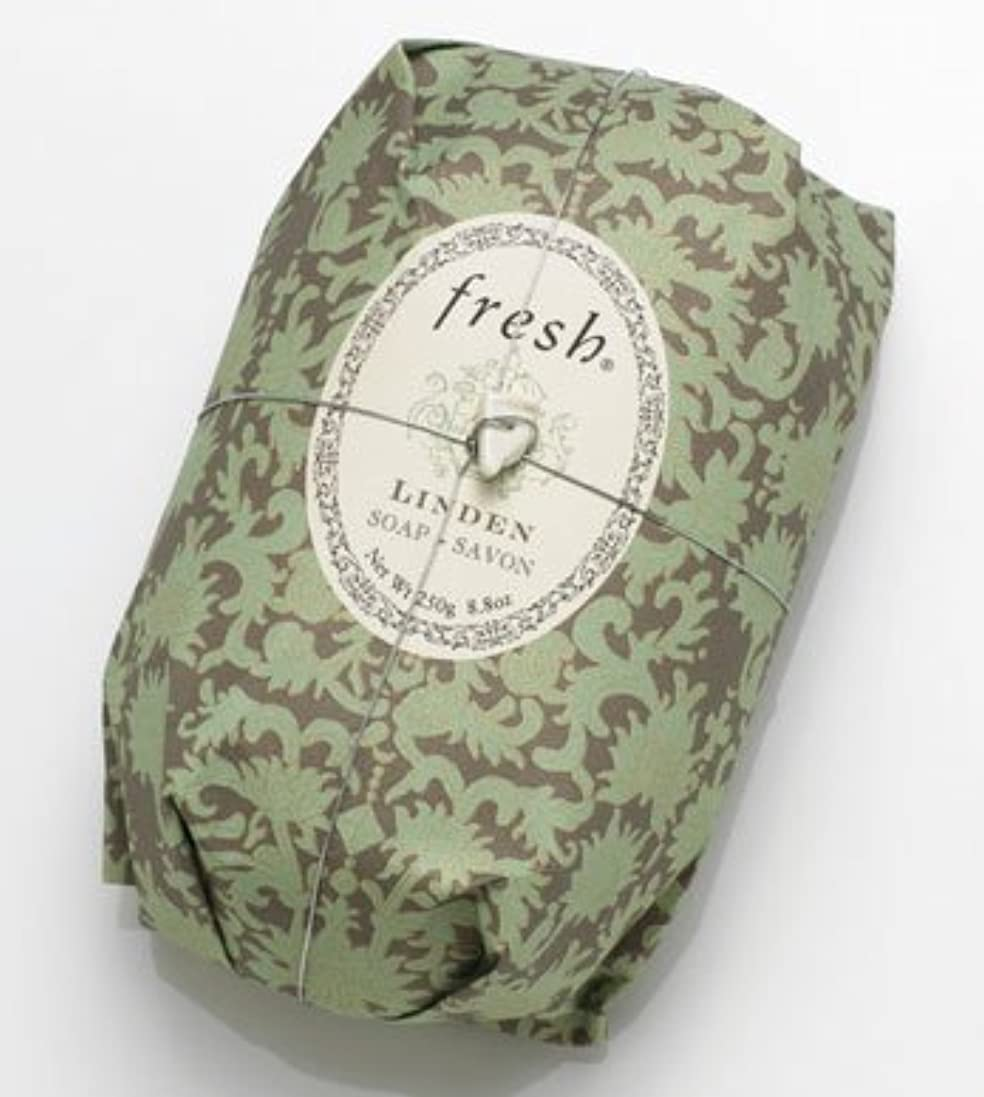 ライン屈辱するロールFresh LINDEN SOAP (フレッシュ リンデン ソープ) 8.8 oz (250g) Soap (石鹸) by Fresh