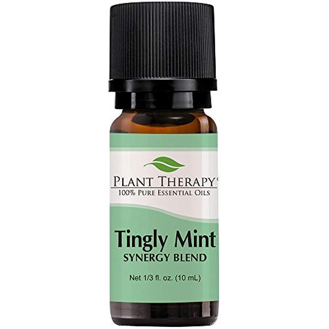 今資料ヒゲTingly Mint Synergy. Essential Oil Blend. 10 ml (1/3 oz). 100% Pure, Undiluted, Therapeutic Grade. (Blend of:...