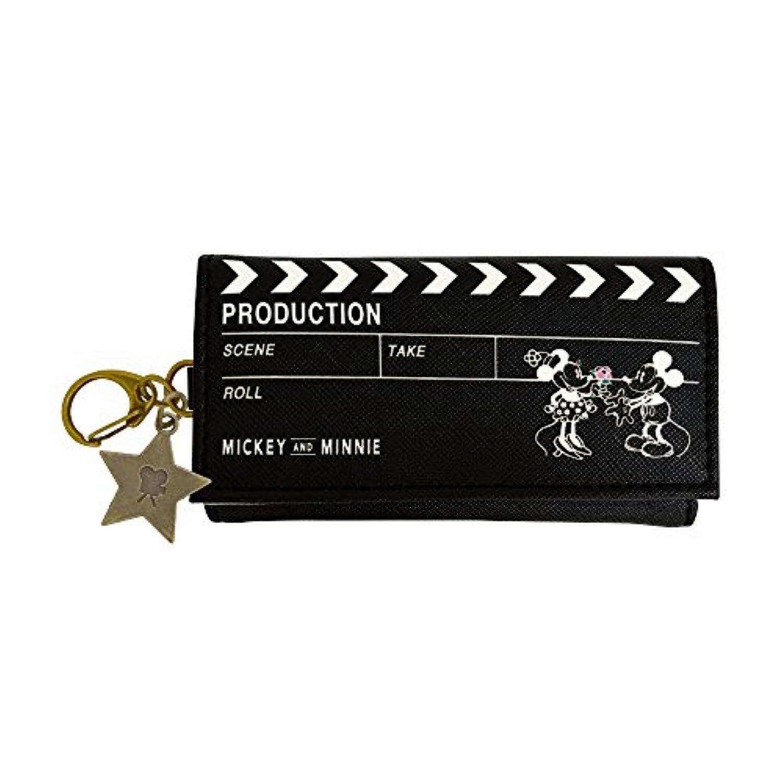 カミオジャパン ディズニー キーケース ミッキーマウス カチンコ ブラック 本体サイズ:約幅6×奥行2×高さ11cm 68