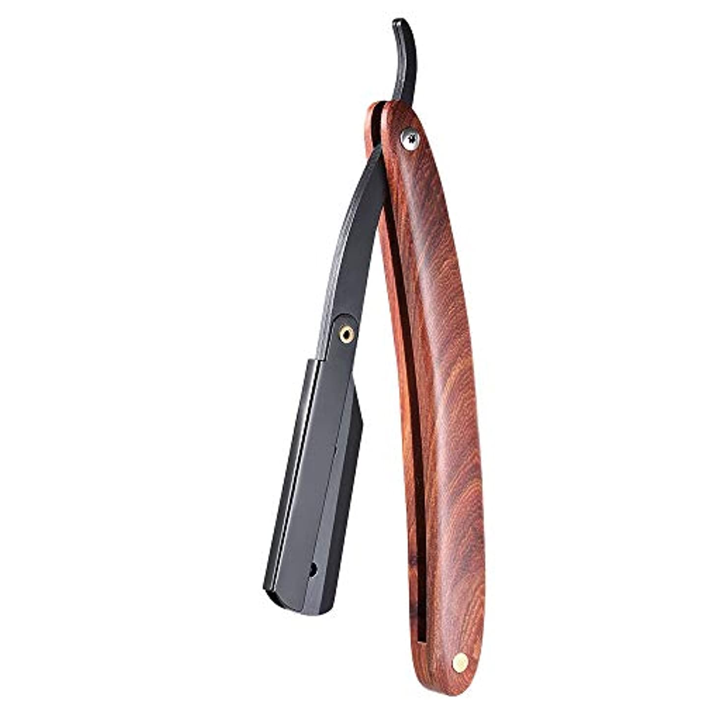 ピニオン馬鹿げたフェードアウトMen Shaving Straight Edge Razor Stainless Steel Manual Razor Wooden Handle Folding Shaving Knife Shave Beard Cutter...