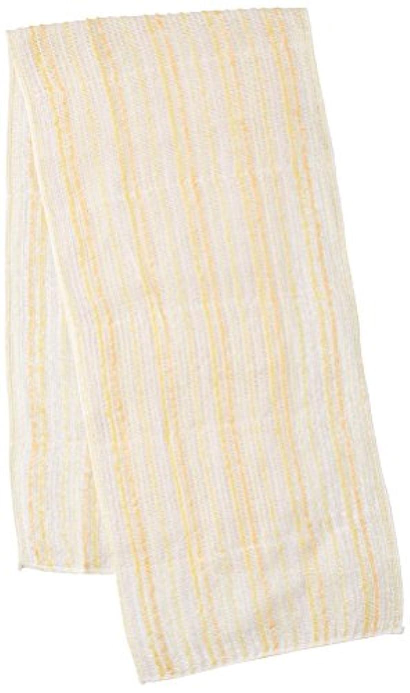 休眠せがむ好意サンベルム (SANBELM) お風呂 タオル 体洗い  イエロー(YE) 20x100cm 綿あわだちボディタオル Fuwari B33604