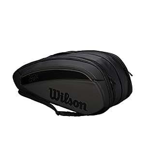 Wilson(ウイルソン) テニス バッグ バドミントン ラケットバッグ FEDERER DNA 12 PACK (フェデラーDNA 12 パック) 12本収納可能 WRZ832812