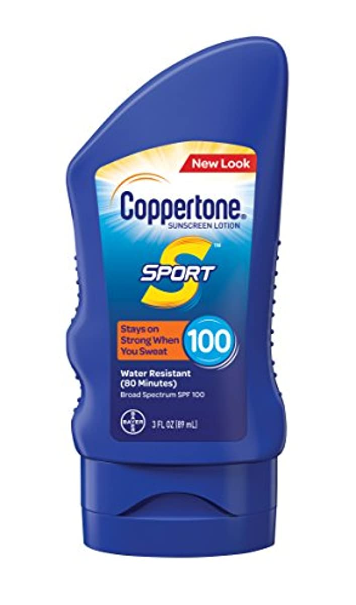 部分指導する限定Coppertone スポーツ日焼け止めローション広域スペクトルSPF 100(3-流体オンス)