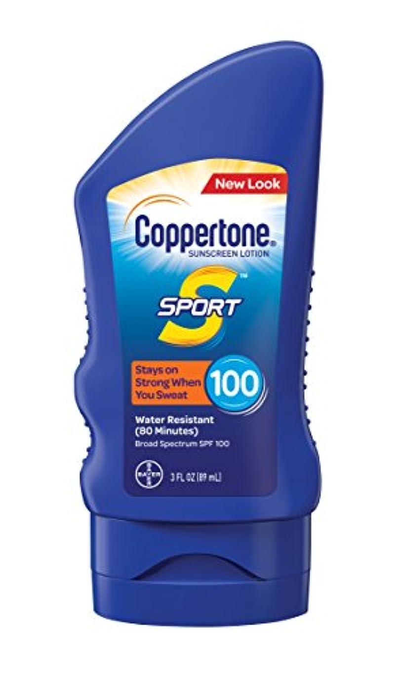 サスペンド内側歩行者Coppertone スポーツ日焼け止めローション広域スペクトルSPF 100(3-流体オンス)