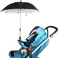 vibola Baby Pram Pushchairバギーベビーカー傘サンシェードパラソルBrolly Sun Canopy L ブラック Vibola®25